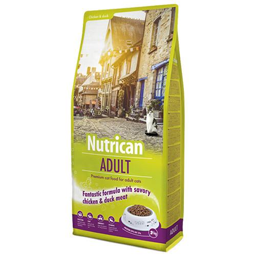 Сухий корм Nutrican Adult Cat для дорослих котів всіх порід зі смаком курки і рису, 2 кг