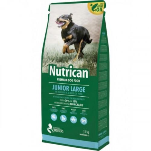 Сухой корм Nutrican Junior Large для щенков крупных пород со вкусом курицы, 15 кг