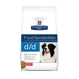 Сухой корм Hills Prescription Diet Canine d/d Food Sensitivities Salmon & Rice для собак, лосось и рис, 12 кг