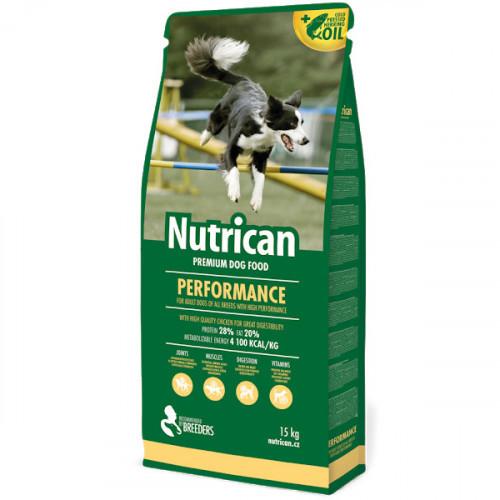 Сухий корм Nutrican Performance для дорослих собак великих порід зі смаком курки, 15 кг