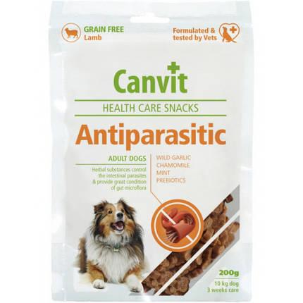 Полувлажное лакомство Canvit Antiparasitic для профилактики проблем с кишечным трактом у собак, 200 г, фото 2