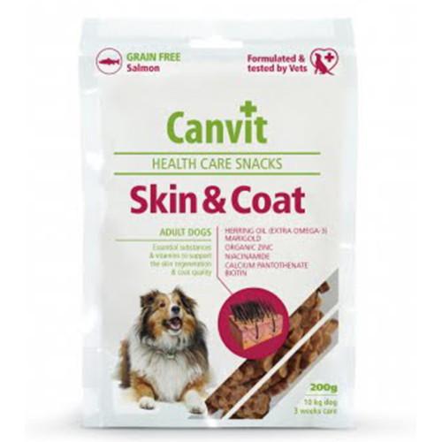Напіввологе ласощі Canvit Skin and Coat для краси, здоров'я і блиску шерсті для собак, 200 г