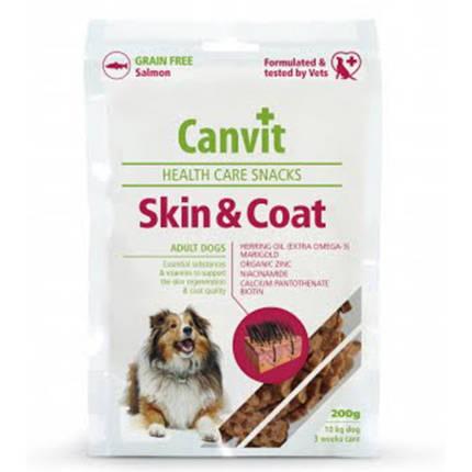 Напіввологе ласощі Canvit Skin and Coat для краси, здоров'я і блиску шерсті для собак, 200 г, фото 2