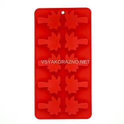 Силиконовая форма для льда и конфет Пальма / Силіконова форма для льоду і цукерок (красный)