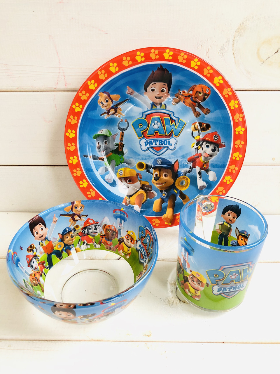 Набір дитячого посуду Щенячий патруль
