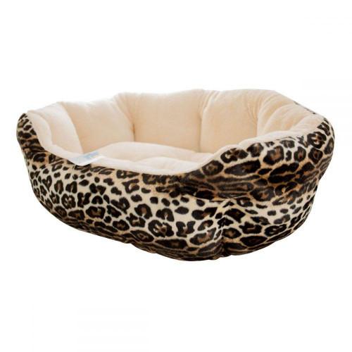 Лежанка меховая Элегант 3 для собак и кошек, 60 х 50 х 20 см