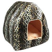 Домик-шалаш меховой для собак и кошек, 42 х 43 х 50 см