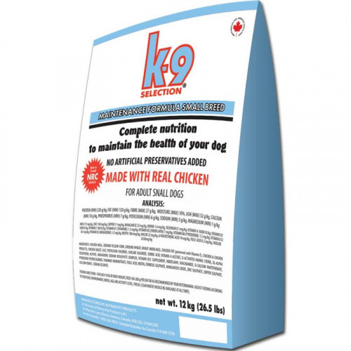 Сухой корм K9 Selection Small Breed Maintenance для щенков мелких пород, 20 кг