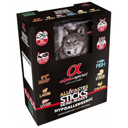 Полувлажное лакомство палочки Alpha Spirit Sticks All 6 Tastes in one для собак со вкусом говядины, 40 г х 6, фото 2