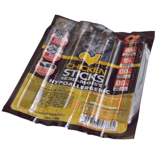 Полувлажное лакомство палочки Alpha Spirit Sticks Chicken для взрослых собак со вкусом курицы 40 г x 4 шт