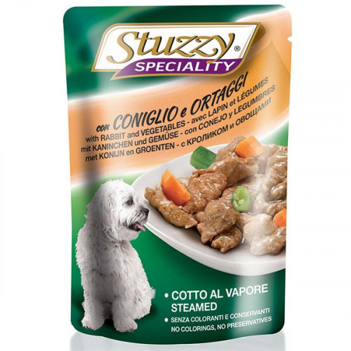 Консервы Stuzzy Speciality Dog Rabbit Vegetables для собак, с кроликом и овощами в соусе, пауч, 100 г