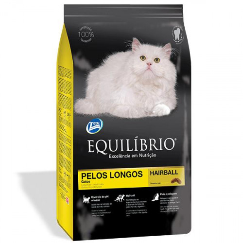 Сухой корм Equilibrio Cat для длинношерстных котов, суперпремиум, для котов, 0.5 кг