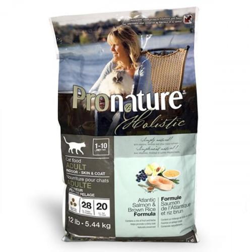 Сухий корм Pronature Holistic Adult Atlantic Salmon&Brown Rice з лососем і рисом, для котів, 2.72 кг