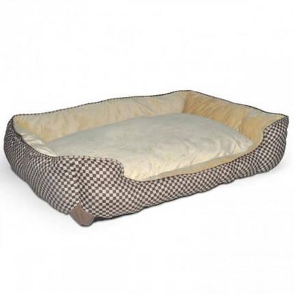 Лежак K&H Self-Warming Lounge Sleeper самосогревающийся, для собак и котов, зеленый с желто-коричневым, S, фото 2