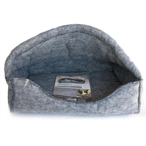 Лежак-домик K&H Amazin` Hooded для котов, серый