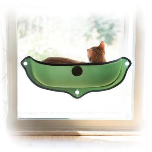 Спальное место K&H Ez Mount Window Bed на окно, для котов, зеленый