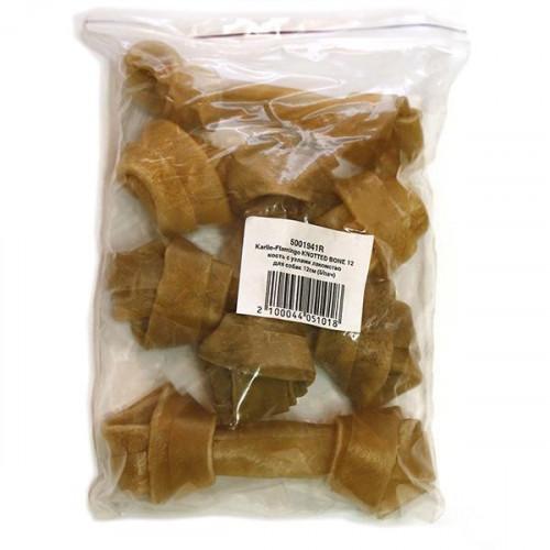 Лакомство Flamingo Knotted Bone для собак, кость с узлами, 19 см, 70-80 г, (5/пач), цена за 1 шт