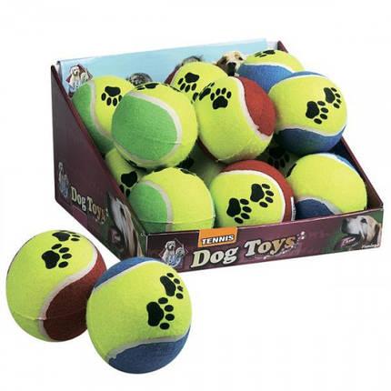 Іграшка Flamingo Tennisball Fluo для собак, м'яч теніс, гума, 9,5 см, фото 2