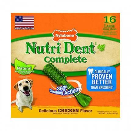 Лакомство Nylabone Nutri Dent Chicken Large для чистки зубов для собак, вкус курицы, 16 шт, цена за 1 шт, фото 2