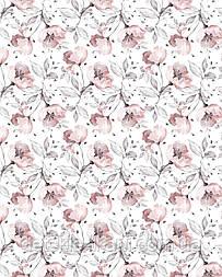 """Панелька из сатина для детского пледа """"Серо-пудровые цветы"""" 82*102 см"""