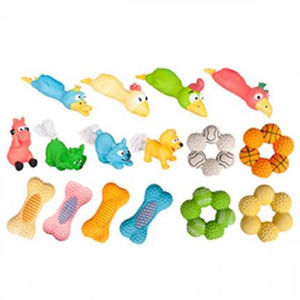 Игрушки Flamingo Toys для собак, жеребенок, щенок, котенок, хвост из каната, латекс, 8 см, фото 2