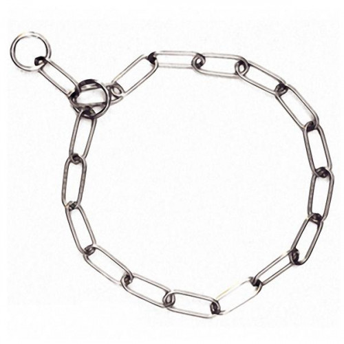 Ошейник Flamingo Long Link Chain цепочка для собак, длинное звено, металл, 66 см, 4 мм