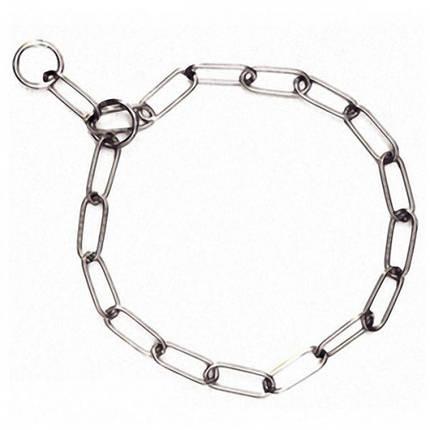 Ошейник Flamingo Long Link Chain цепочка для собак, длинное звено, металл, 66 см, 4 мм, фото 2