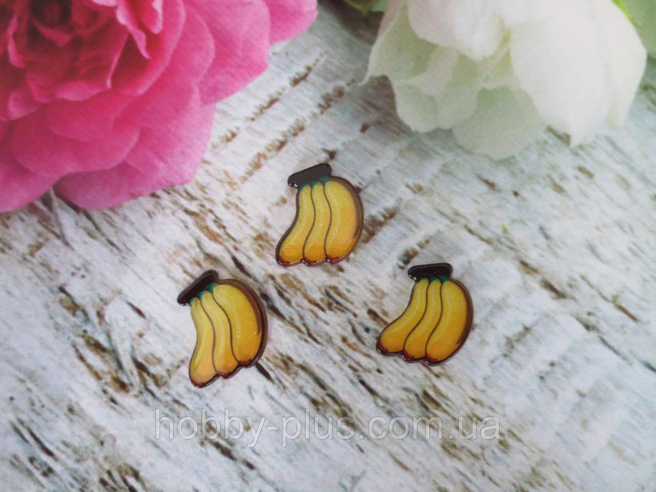 "Серединка, планер с блестками ""Банан"", 20х20 мм, 1 шт"