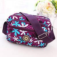 Женская сумка через плечо / нейлоновая женская сумка-мессенжер повседневная с принтом яркая