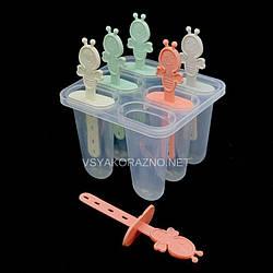 Форма для мороженого пластиковая Пчелка (6 порций) / Пластикова форма для морозива