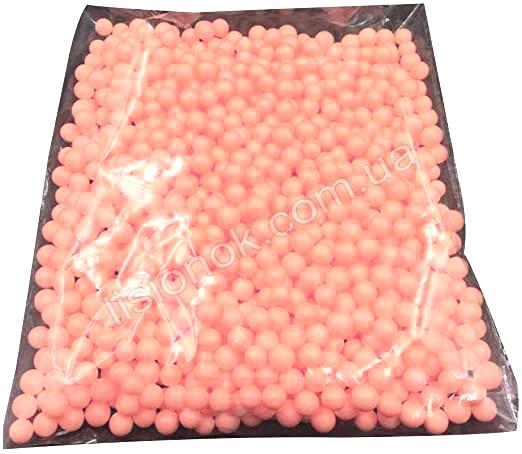 Персиковые пенопластовые шарики для слаймов – 2000 штук, для создания кранч слаймов (crunchy slime)