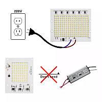 Светодиод на замену в  прожектор 100W LED матрица 220 Вольт теплая  холодная.
