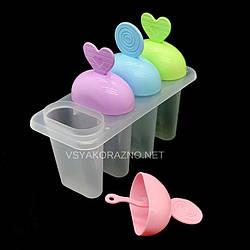 Форма для мороженого пластиковая Эскимо (4 порций) / Пластикова форма для морозива