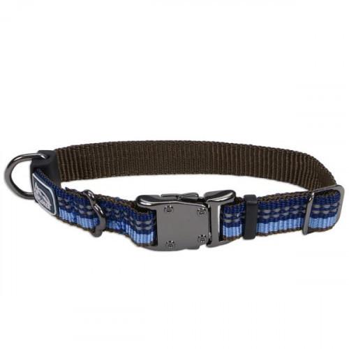 Нейлоновый ошейник Coastal K9 Explorer для собак, синий, 1.6×20-30 см
