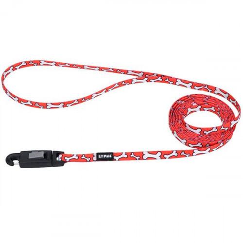Поводок Coastal Lit'l Pals с EZ карабином для собак, красный, 0.8 см×1.8 м