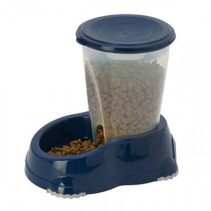 Автоматична годівниця Moderna Смарт для собак і кішок, 1,5 л, кобальт синій, 23 х 15 х 21 см, фото 2