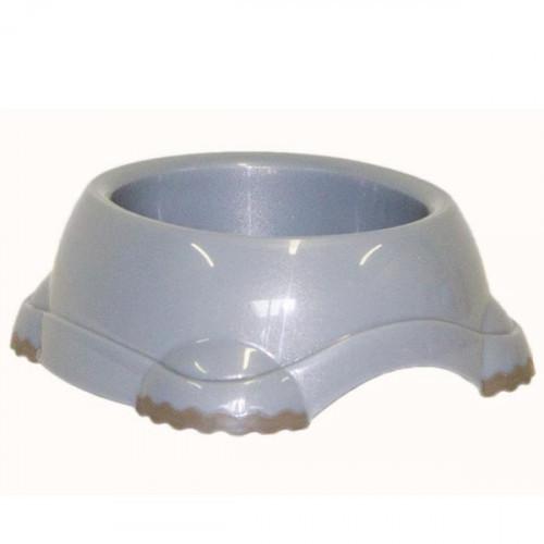 Миска Moderna Смарті №1 для собак і кішок, пластик 315 мл, d-12 см, світло-сіра
