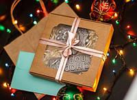 """Шоколадный набор """"С Новым годом"""" - черный шоколад"""