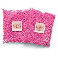 Малиновые пенопластовые шарики для слаймов – 2000 штук, для создания кранч слаймов (crunchy slime), фото 1