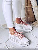 Кожаные белые кеды 38 размер, фото 1