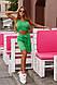 """Стильный летный костюм """" АЖУР """":топ и юбка,зеленого цвета, фото 2"""