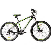 """Велосипед горный CAMARO Blaze 27.5""""черно-салатовый, алюминиевая рама 17"""" 2020г"""