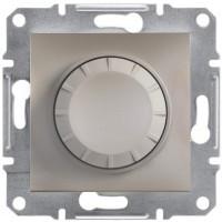 Светорегулятор поворотный, 600 ВА, Бронза Asfora, EPH6400169