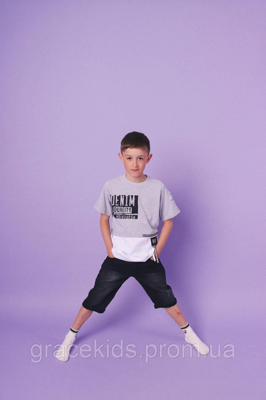 Детские летние комплекты для мальчиков BEBUS,разм 5-8лет,Турция