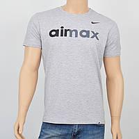 Мужская футболка Nike(реплика) серый меланж