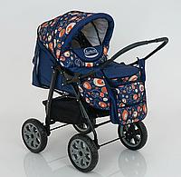Коляска для детей Viki, модель 86- C 130, расцветка АБСТРАКЦИЯ, люлька, сумка, дождевик, корзина.