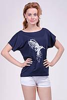 """Женская футболка - хулиганка """"колибри"""", разлетайка, фото 1"""