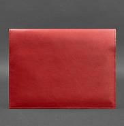 Кожаная папка для документов А4 на магнитах (красная), фото 3