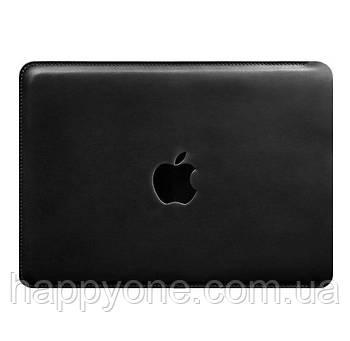 Кожаный чехол для Macbook Pro 13 (черный)