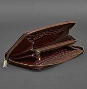 Кожаное портмоне на молнии 6.1 (бордовое), фото 2